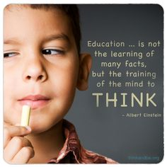 Train the mind to think!