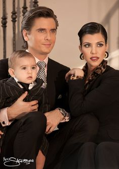 Merry Christmas From The Kardashians before they had their daughter Penelope