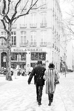 Paris in snow (photo credit: Carla Coulson)
