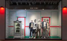 ELITE Man SS15 shop windows. Giorgio Armani & Roberto Cavalli. http://www.elitestore.es