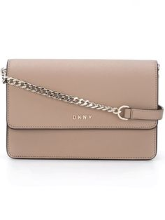 Shop DKNY chain strap shoulder bag in Stefania Mode from the world's best…