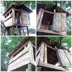 Jak zrobić domek na drzewie? Instrukcja krok po kroku jak wykonać domek na drzewie dla dziecka.Projekt Dziecko na warsztat