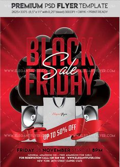 Download Black Friday Sale V11 2017 Flyer PSD Template  Facebook Cover Free