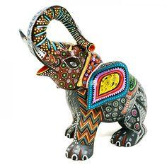 Manuel Cruz Elephant-  #woodcarving Oaxaca Mexico