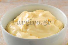Βασική συνταγή για μαγιονέζα Chutneys, Sauces, Dips, Good Food, Food And Drink, Appetizers, Dressing, Pudding, Basel