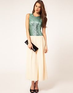 I'm not in love with the length of the skirt, but I love sequins like this.