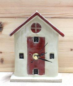 Beach Hut Ceramic Clock