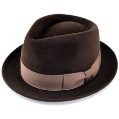 帽子/メンズ/レディース/ハット/高級フェルトハット/ラビットファー/中折れハット/ウール/帽体/FUJI HAT/フジハット/ブラウン