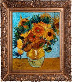 da1f544df8e Found it at Wayfair - Sunflower Collage (artist interpretation) Van Gogh  Framed Original Painting