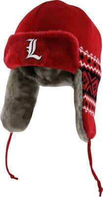 17afa653b31 Louisville Cardinals Red New Era Team Trapper Trooper Hat