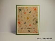スタンピンアップ 秋色カード Stampin' Up Autumn Color Card