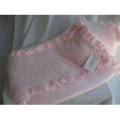 Saco de bebe   De lana en rosa y Beige  Marca Rochy