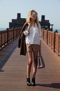 Tobi Shorts, Givenchy Shoes, Prada Bag, Topshop Blouse
