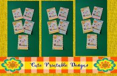 Printable Gift Cards, Cute Cards,  Animals Cards , GC-CCK-30 de CutePrintableDesigns en Etsy