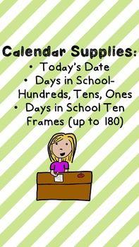 Go get your Calendar Supplies ready for back to school!!!! #backtoschool #flyingfirsties #teachingcalendar #bestclassroomever