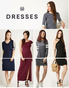 Buy latest Women's Dresses - online in India - Top Collection at LooksGud. Western Dresses, India, Summer Dresses, Stuff To Buy, Collection, Tops, Women, Fashion, Moda