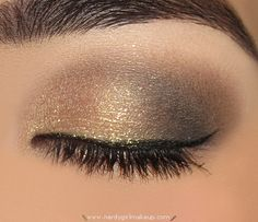 SparklyGoldBrownAndBlackMakeup- lots of looks by color at nerdygirlmakeup