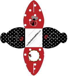 Caixa Joaninha Alice, Ladybug Party, Silhouette Projects, Miraculous, Crafts For Kids, Projects To Try, Birthday, Ladybugs, Couture