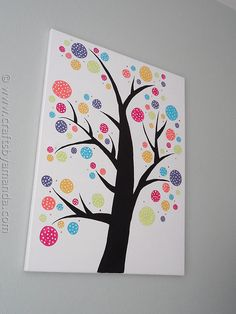 Polka Dot Circle Tree - Crafts by Amanda this is so cute and would be so cute in an office or kids room.