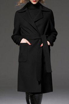 Slit Back Long Coat