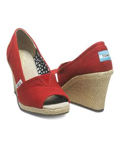 Another great find on #zulily! Red Canvas Wedge #zulilyfinds