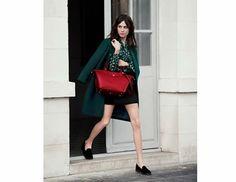 Alexa Chung Le Pliage Héritage #Longchamp #animalprint