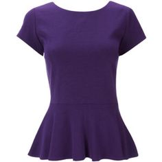 PURPLE peplum Model picture not the color Forever 21 Tops Blouses