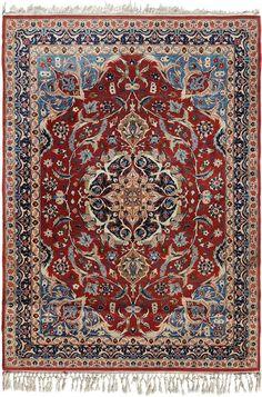 Schuler Auktionen Zürich  |   Isfahan Z-Iran, um 1960 108x150 cm (ft. 3.6x5).