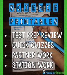 The Science Penguin: Science Printables for review, quizzes, and more!