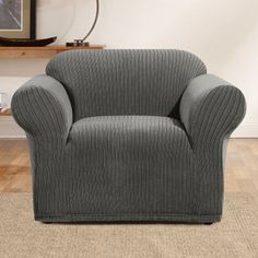Sure Fit Simple Stretch Ribbon Stripe Chair Slipcover - 45014
