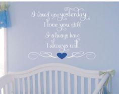 Baby Boy Girl Saying Wall Decal Nursery Vinyl by AllOnTheWall, $23.00