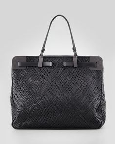 Bottega Veneta  Stitched and Woven Leather Tote Bag  $4750