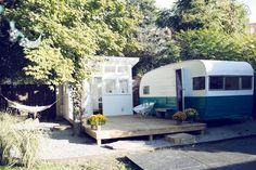 Check out this awesome listing on Airbnb: 60's Camper and Backyard Bathhouse in Nashville