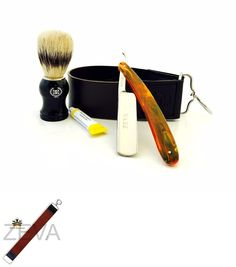 Straight Razors: 4 Pc Men S Straight Razor, Shaving Brush, Small Leather Strop And Dovo Paste -> BUY IT NOW ONLY: $39.99 on eBay!