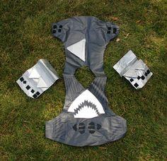 Shark Boy Costume Pattern | How To | Fabric Spray Paint T-shirt