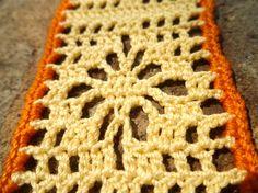 Yellow and Orange Crocheted Flower Bookmark by Ravy17CrochetDesign, $9.95