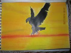 Eagle at Sunset... Made using Dry Pastels!!!