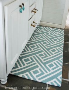 DIY Custom Rug: Modify a Rug to Fit any Space - Unexpected Elegance