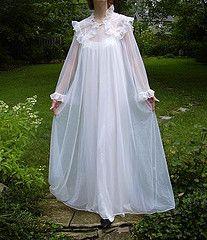Ralph Montenero Pearl White Peignoir Full Length Front (mondas66) Tags: robe lace boudoir gown sheer peignoir ralphmontenero