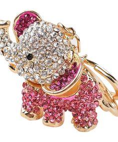 Crystal Lucky Elephant Keychain