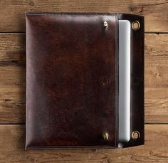 for the hubs Artisan Leather Laptop Sleve / via @ank, but I prefer the chocolate version / $99