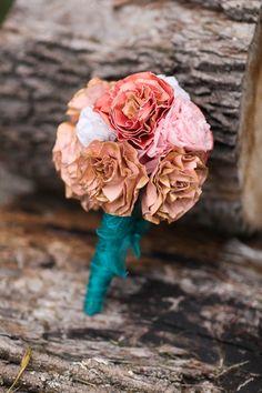 DIY: How to Make a Dried Paper Flower Wedding Bouquet | Washington DC Weddings, Maryand Weddings, Virginia Weddings :: United With Love™ :: Fresh Inspiration, Ideas and Vendors
