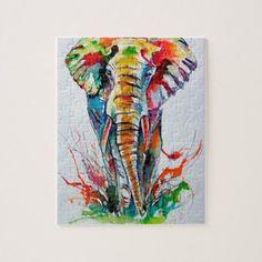 painting Ideas Elephant - African elephant Painting by Kovacs Anna Brigitta. African Art Paintings, Animal Paintings, Animal Drawings, Art Drawings, Original Paintings, African Drawings, Original Art, Elephant Sketch, Elephant Artwork