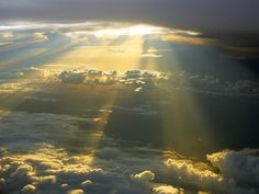 The sun is ALWAYS above the clouds even on the darkest days. From the plane above the clouds, the dark clouds look like cotton or marshmallows. not so menacing at all. Beautiful Songs, Beautiful Places, Beautiful Sky, Beautiful Scenery, Wonderful Places, Hd Sky, Wallpaper Computer, Hd Wallpaper, Above The Clouds