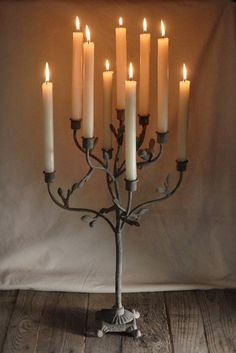 Iron 21.5 inch Candle Holder Tree (holds 9 tapers) $32 each / 3 for $30 each