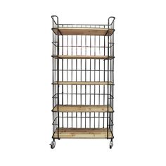 Caged Wood 5-Tiered Shelf | dotandbo.com
