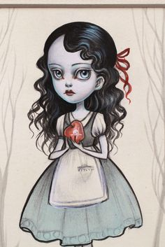 Mab Graves - Her Waifs and Strays — Snow White and the Poison Apple - original illustration by Mab Graves