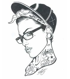 tattooed pinup