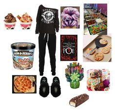 """""""Ima just read my book and eat emotionally cause I'm just about done with everything ~ Johanna"""" by monbebe-anons ❤ liked on Polyvore featuring art"""
