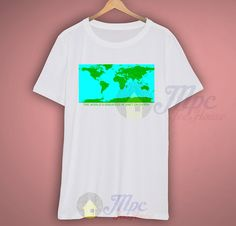The Worlds Greatest Planet On Earth Awesome T Shirt available for men/women size. The picture will be printed using Direct To Garment (DTG) Printing Technology in full color with durable photo quality reproduction NOT use heat transfer method. Retro Shirts, Graphic Shirts, Cool T Shirts, 80s Tees, The World's Greatest, Loom, Planets, Campaign, Ink